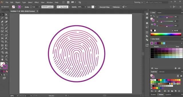 Fingerprint Design in Adobe Illustrator