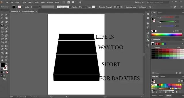 Text Wrap in Adobe Illustrator