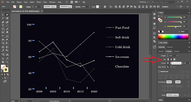 Line Graph in Illustrator