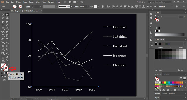 Line Graph in Adobe Illustrator