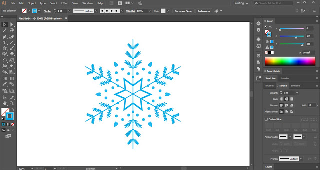 draw snowflakes in illustrator