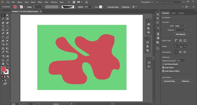 Delete the random shape to create a paper cut-out effect