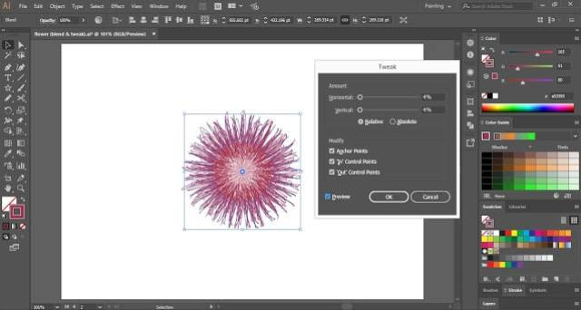 Flower with Blend Tool in Adobe Illustrator