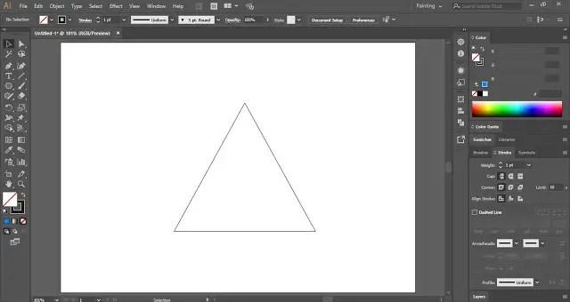 Penrose Triangle in Adobe Illustrator
