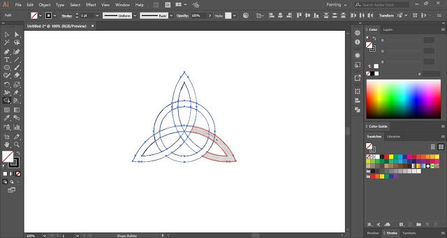 Triquetra Knot in Adobe Illustrator