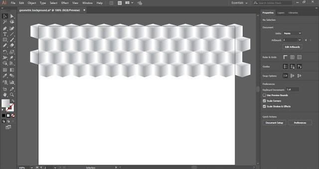 Vector Geometric Background in Adobe Illustrator