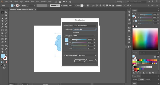 Swatches in Adobe Illustrator
