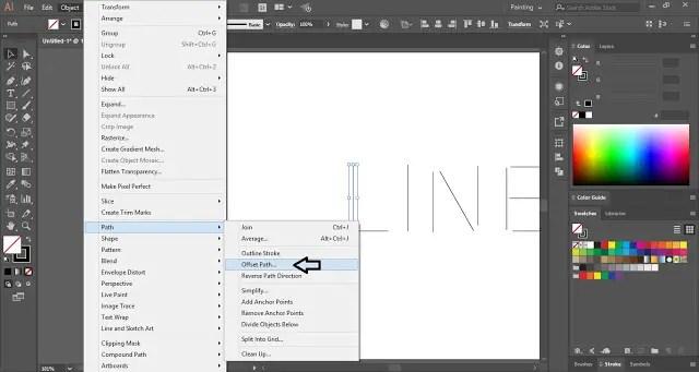 Multi-line Text Effect in Adobe Illustrator