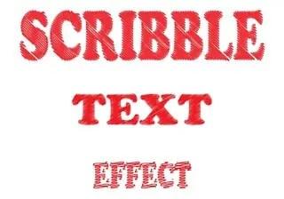 Scribble Text Effect in Adobe Illustrator
