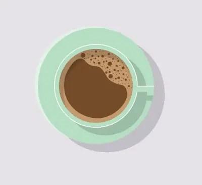 Flat Coffee Cup (Top View) in Adobe Illustrator