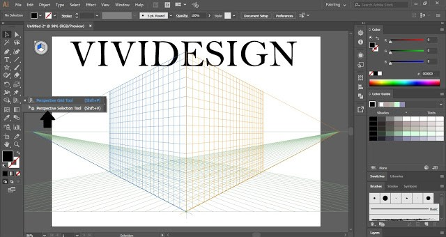 Wrap Text Around Perspective Grid Planes in Adobe Illustrator