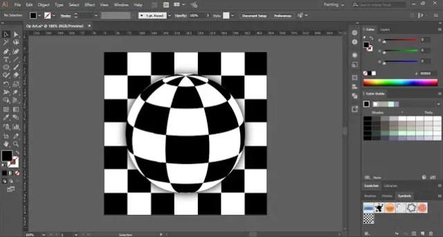 How to create Op Art in Adobe Illustrator?