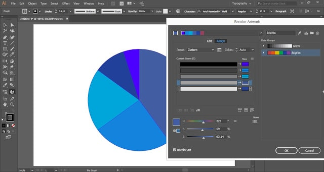 How to create a Pie-Chart in Adobe Illustrator?