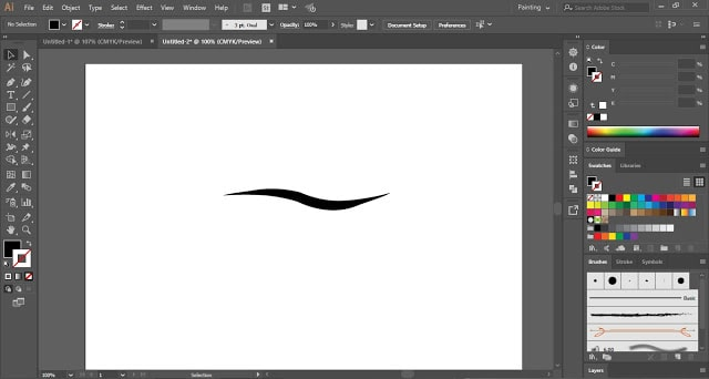 Custom Art Brush in Adobe Illustrator