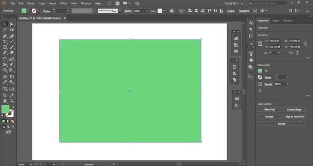create a copy of rectangle above it and fill with different color