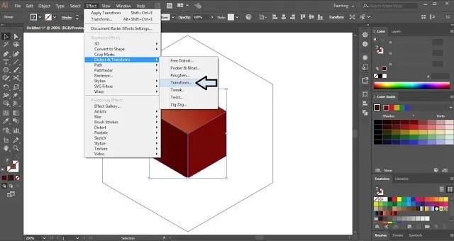 3D cube in Illustrator