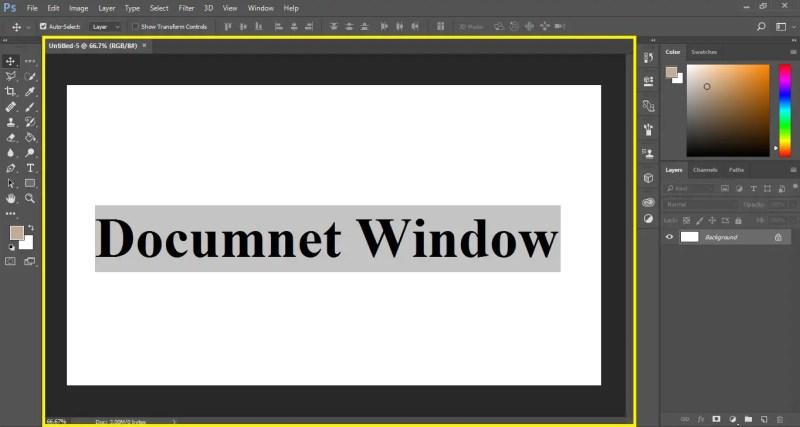 Document Window in Photoshop