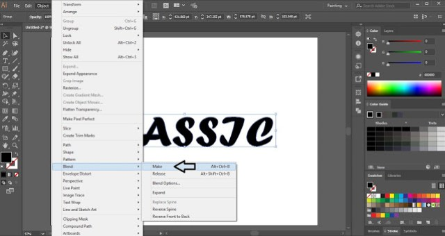 3D Text in Adobe Illustrator