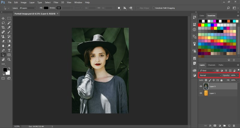 Normal Blending Mode in Photoshop