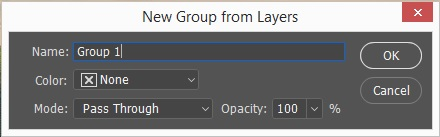 Grouping Layers in Photoshop