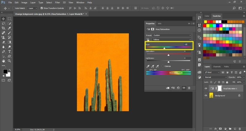 Change Background Color in Photoshop