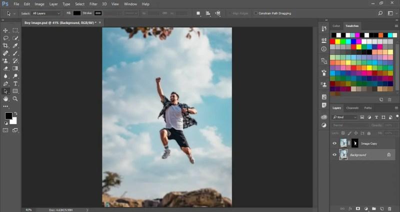 Blur Background in Photoshop