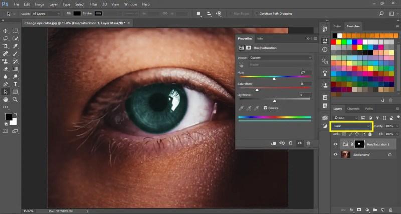 Set Color as Blending Mode