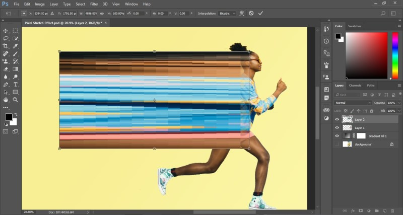 Pixel Stretch Effect