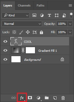 Select Layer style icon