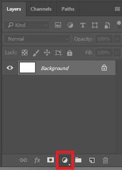 Click on Create new fill or adjustment layer