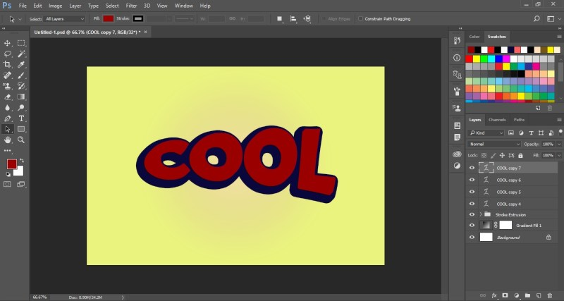 Cool Text Effect in Photoshop