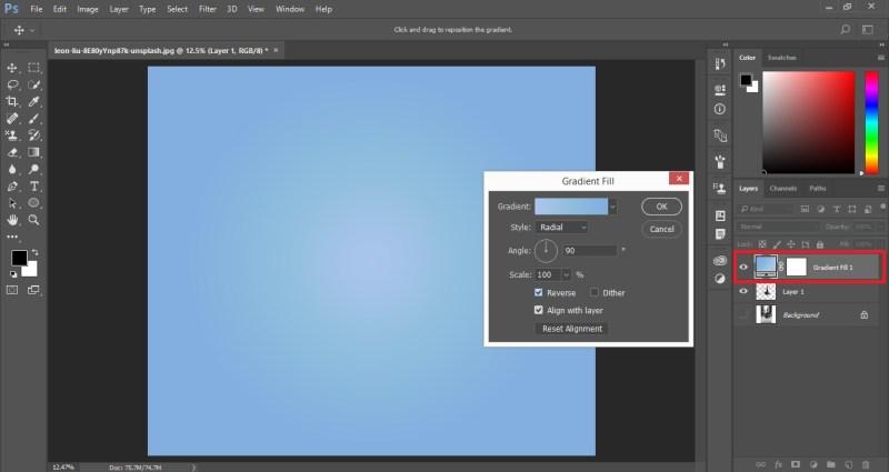 Create Gradient Fill Layer