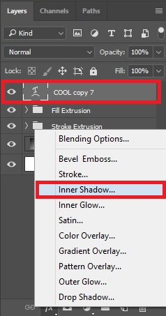 Select Inner Shadow