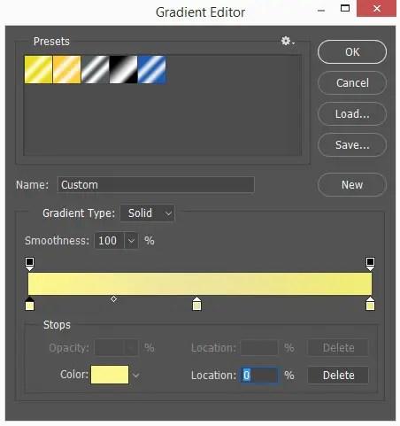 Edit colors in Gradient Editor