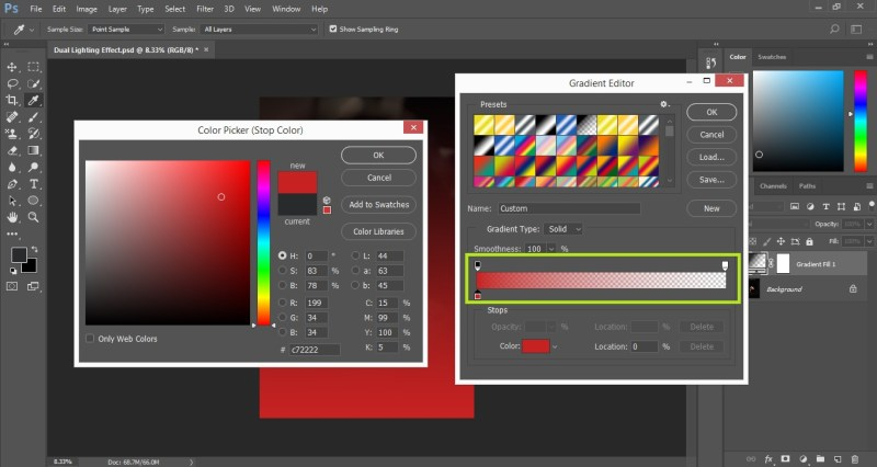 Select the color from Color Picker