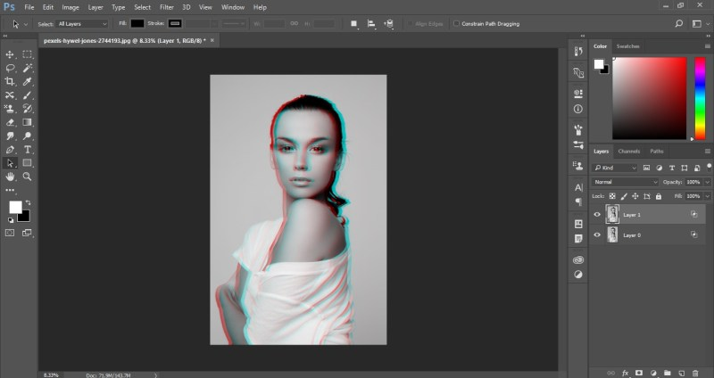3D photo in photoshop