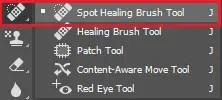 Select Spot Healing Brush Tool