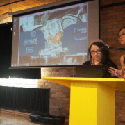 Scar Tissue Narrative Interactive Story Video game presentation at Dames Making Games, Tanya Kan and Mikki Benaglia