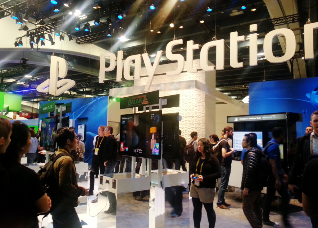 Playstation booth at GDC Expo