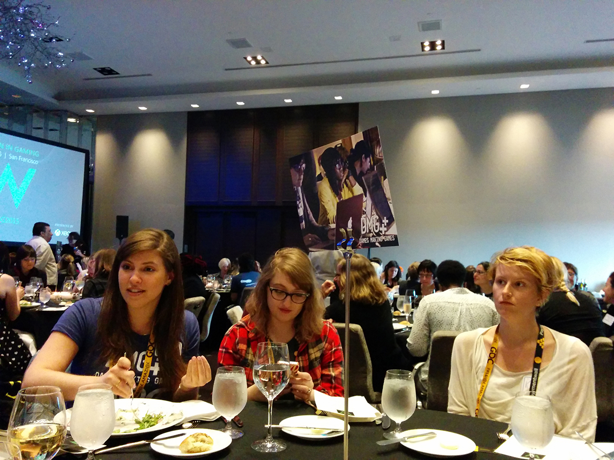 Brittney Oberfeld, Gabby DaRienzo and Kara Stone at XBox Women in Games Award Luncheon
