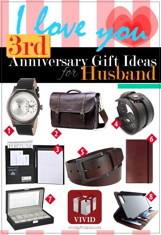 wedding anniversary gifts 3rd