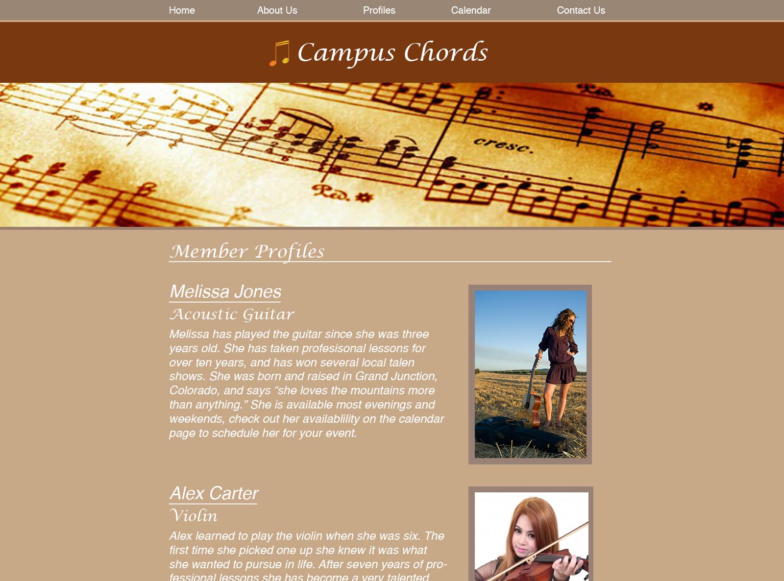 Campus Chords Profiles Sml