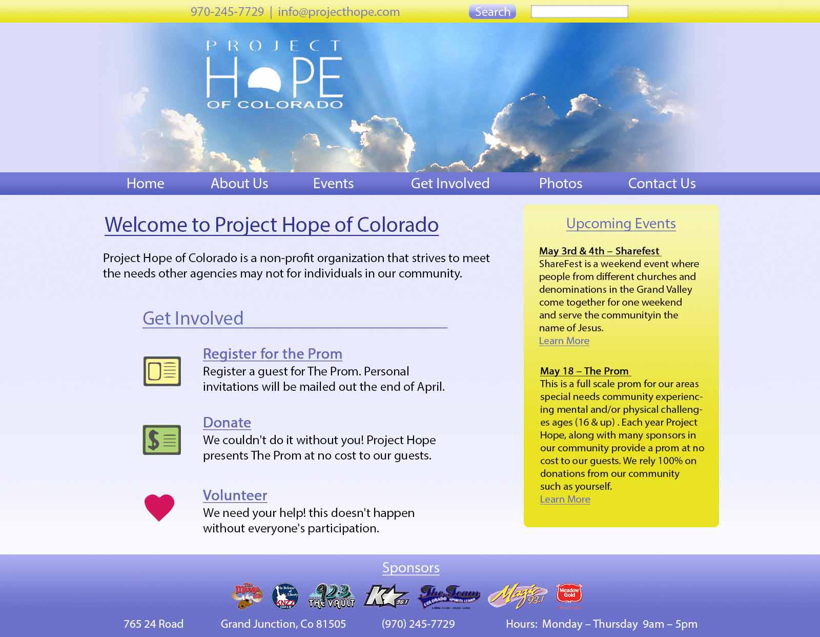 Project Hope Website Sml