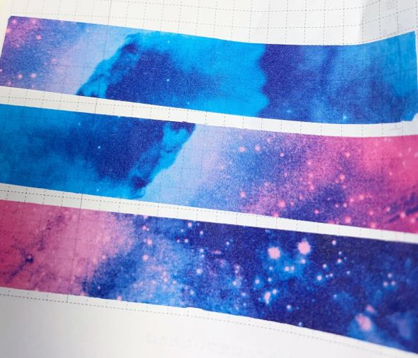 Watercolor Galaxy Washi | Galaxy Washi, Pink Blue and Purple Galaxy, Night Sky, Stars, Artsy Washi, Bright colors, Vibrant, Vivid