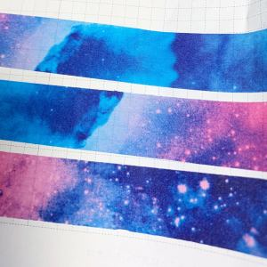Watercolor Galaxy Washi | Galaxy Washi, Pink Blue and Purple Galaxy, Night Sky, Stars, Artsy Washi, Bright colors, Vibrant, Vivid