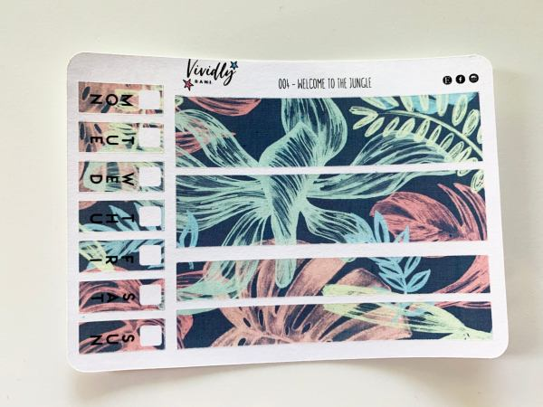 MINI KIT | Tropical Jungle Hobonichi Techo Weeks Weekly Kit | Hobonichi, Sticker Kit, Weeks Weekly Stickers, Weekly Kit, Cheap Hobo Kit