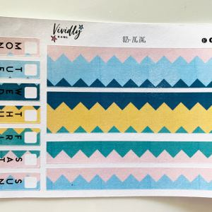 MINI KIT | Zig Zag Bold Colors Hobonichi Techo Weeks Weekly Kit | Hobonichi, Sticker Kit, Weekly Stickers, Weekly Kit, Cheap Hobo