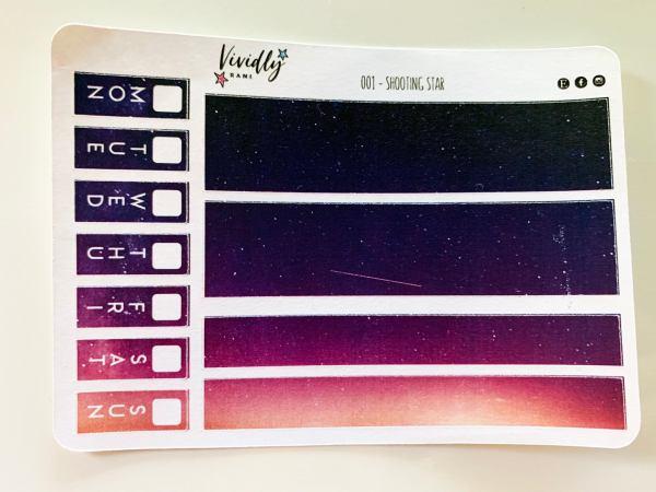 MINI KIT   Shooting Star Hobonichi Techo Weeks Weekly Kit   Hobonichi, Sticker Kit, Weeks Weekly Stickers, Weekly Kit, Cheap Hobo Kit