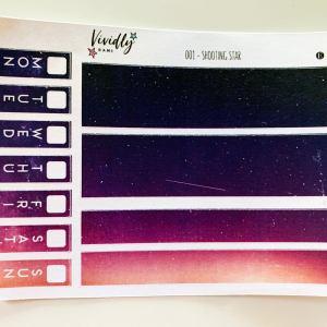 MINI KIT | Shooting Star Hobonichi Techo Weeks Weekly Kit | Hobonichi, Sticker Kit, Weeks Weekly Stickers, Weekly Kit, Cheap Hobo Kit