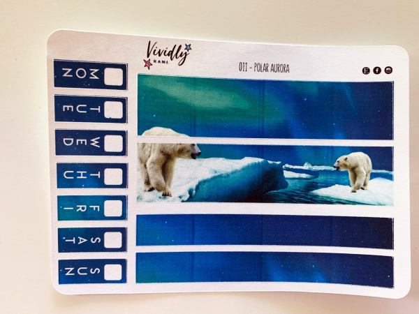 MINI KIT | Polar Aurora Hobonichi Techo Weeks Weekly Kit | Hobonichi, Sticker Kit, Weekly Stickers, Weekly Kit, Cheap Hobo Kit